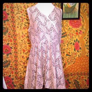 Ultra Pink Women's Lace Layered Dress Size XL